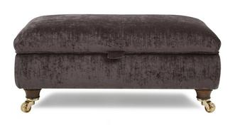 Morris Large Plain Storage Footstool