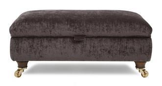 Morris Large Plain Storage Footstool