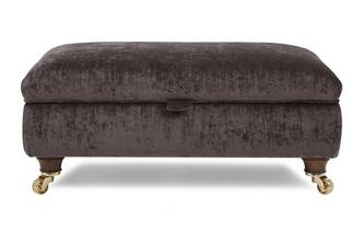 Large Plain Storage Footstool
