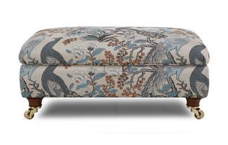 Large Pattern Storage Footstool Morris