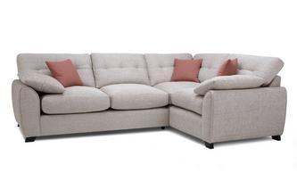 Left Hand Facing 3 Seater Corner Sofa KIrkby Plain