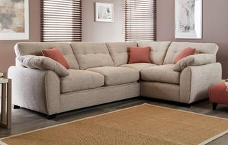 Morton Left Hand Facing 3 Seater Corner Sofa KIrkby Plain