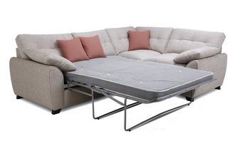 Left Hand Facing 3 Seater Deluxe Corner Sofa Bed KIrkby Plain