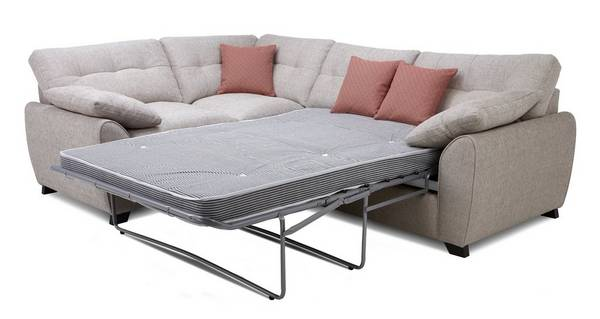 Morton Right Hand Facing 3 Seater Deluxe Corner Sofa Bed