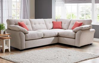 Murphy Left Hand Facing 3 Seater Deluxe Corner Sofa Bed KIrkby Plain