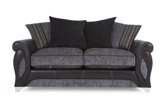 Large 2 Seater Pillow Back Deluxe Sofa Bed Myriad
