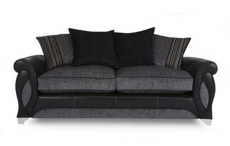 3 Seater Pillow Back Deluxe Sofa Bed Myriad