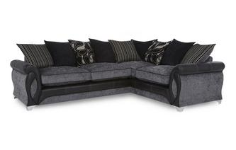 Left Hand Facing 3 Seater Pillow Back Corner Sofa Myriad