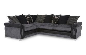 Right Hand Facing 3 Seater Pillow Back Corner Sofa Myriad
