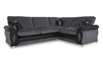 Left Hand Facing 3 Seater Formal Back Corner Deluxe Sofa Bed Myriad