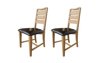 Set of 2 Slat Back Chairs