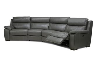 Option B 4 Piece Curved Power Plus Recliner