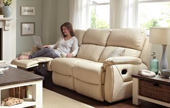 Navona Express 3 Seater Manual Recliner Peru Cream