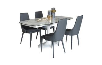 4-6 Seater Dining Table & 4 Chairs