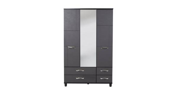 New Adonis 3 Door Mirror Robe WIth Drawers