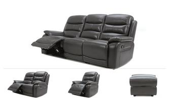 3 & 2 Seater Recliner, Recliner Chair & Stool