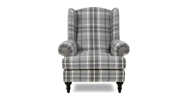 New Aspen Plaid Wing Chair Aspen Plaid