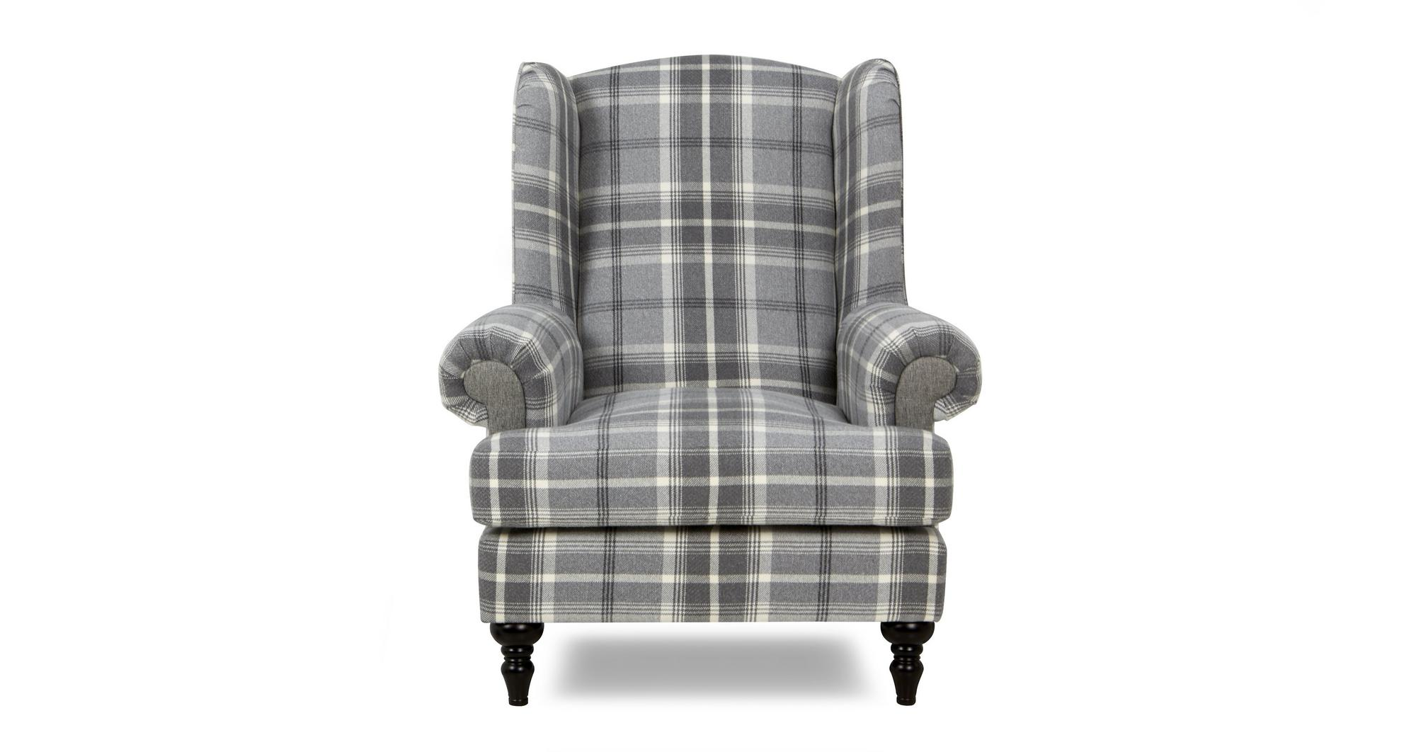 Dfs New Aspen Grey Fabric Plain Midi Sofa Wing Chair Amp 2