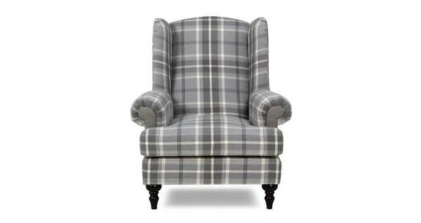 New Aspen Plaid Wing Chair