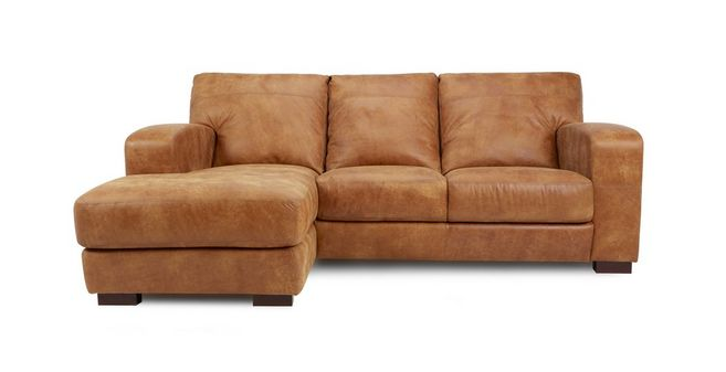New Caesar Left Hand Facing 3 Seater Chaise End Sofa Saddle