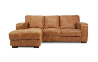 Left Hand Facing 3 Seater Chaise End Sofa Saddle