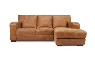Right Hand Facing 3 Seater Chaise End Sofa Saddle