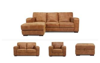 New Caesar Clearance Left Arm Facing Chaise End Sofa, 2 Seater , Chair & Stool Saddle