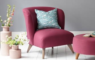 New Lark Tub Chair Brushed Plain Capsule Collection & Chairs - Chaise Longue Swivel And Snuggle Chairs | DFS