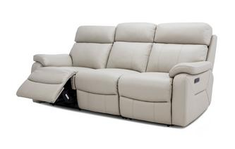 3 Seater Power Plus Recliner with Headrests