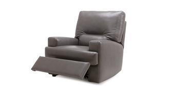Newton Leder met lederlook  Handbediende recliner stoel