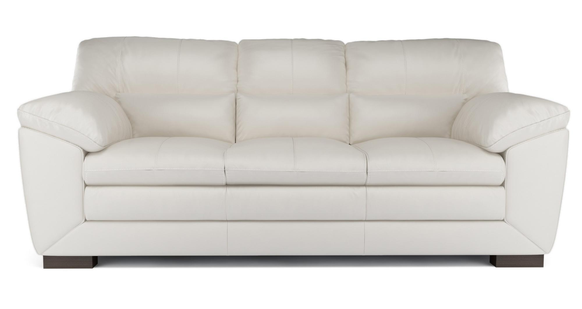 Dfs New Valiant Aspen White Leather 3 Amp 2 Seater Sofas Ebay