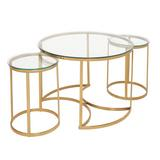 Nest Of 3 Glass Coffee Tables