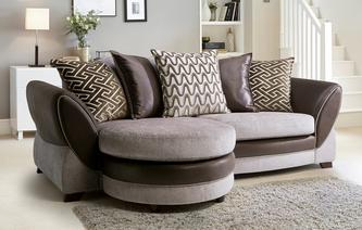 Nina 4 Seater Pillow Back Lounger Eternity