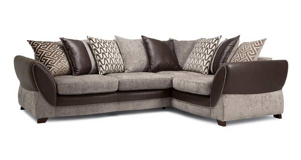 Nina Left Hand Facing Pillow Back 3 Seater Corner Sofa