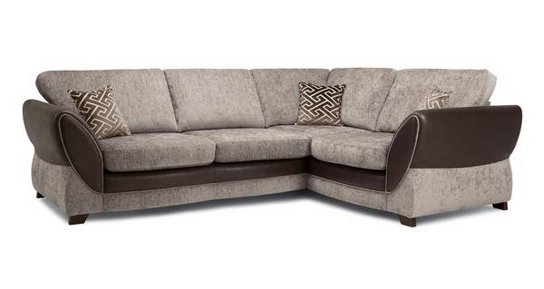 Nina Left Hand Facing Formal Back 3 Seater Deluxe Corner Sofa Bed