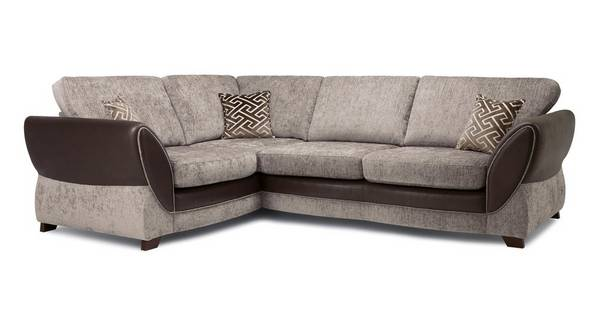 Nina Right Hand Facing Formal Back 3 Seater Deluxe Corner Sofa Bed