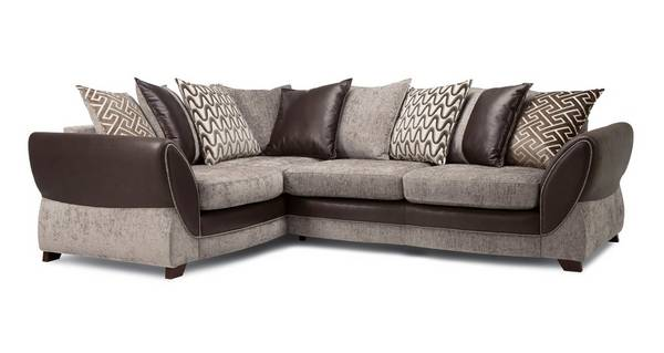 Nina Right Hand Facing Pillow Back 3 Seater Deluxe Corner Sofa Bed