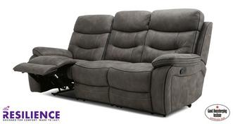 Noah: Fabric 3 Seater Manual Recliner Sofa