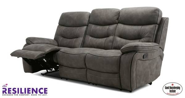 Noah Fabric 3 Seater Manual Recliner, Sofas With Recliners
