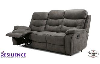 Fabric 3 Seater Manual Recliner Sofa