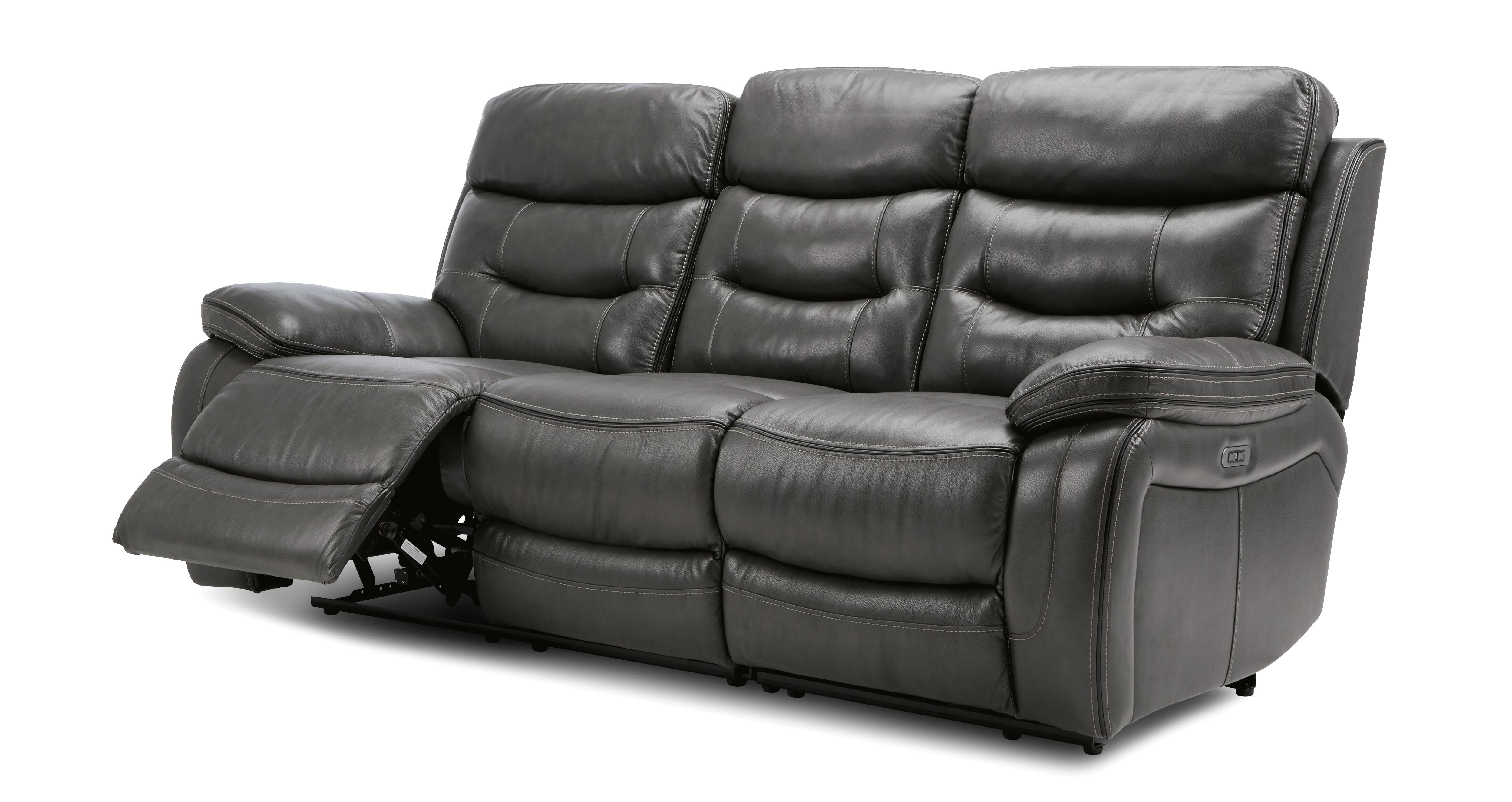 Noah 3 Seater Power Recliner Sofa Opulent | DFS