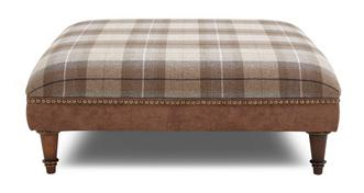 Oakland Check Top Large Footstool