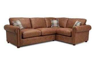 Formal Back Left Hand Facing 3 Seater Corner Sofa Bed