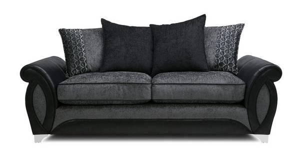 Oberon 3 Seater Pillow Back Sofa