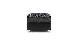 Oberon Pattern Top Storage Footstool
