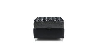 Oberon Pattern Top Storage Footstool