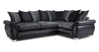 Oberon Left Hand Facing 3 Seater Pillow Back Corner Sofa