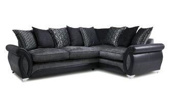 Left Hand Facing 3 Seater Pillow Back Corner Sofa Oberon