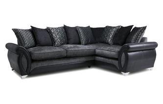 Left Hand Facing 3 Seater Pillow Back Corner Sofa Oberon