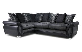 Right Hand Facing 3 Seater Pillow Back Corner Sofa Oberon